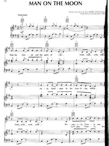 piano sheet] r.e.m. - man on the moon - [pdf document]  fdocuments