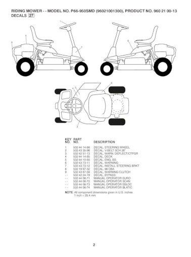 Partner p66-950smd manual
