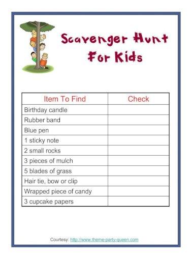 Scavenger hunt for kids mall Mall Scavenger