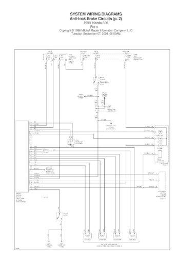 Mazda 626 1999igram Pdf Doent, Mazda 6 Wiring Diagram Pdf