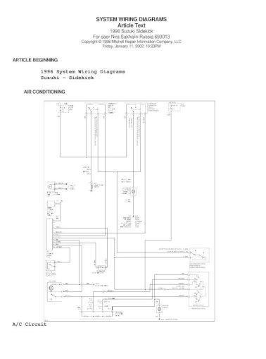 95 suzuki sidekick wiring diagram - [pdf document]  fdocuments