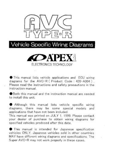 Avc R Wiring Diagram, Avcr Wiring Diagram