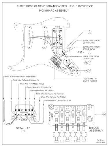 Floyd Rose Classic Stratocaster Hss, Fender Elite Stratocaster Hss Wiring Diagram