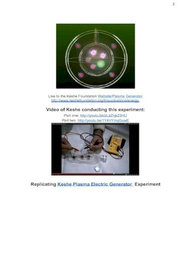 Plasma generator keshe Keshe Nano