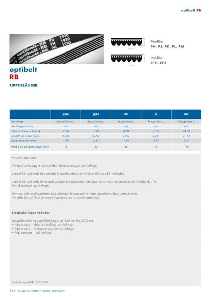 OPTIBELT Rippenband RB 7 PJ 2489