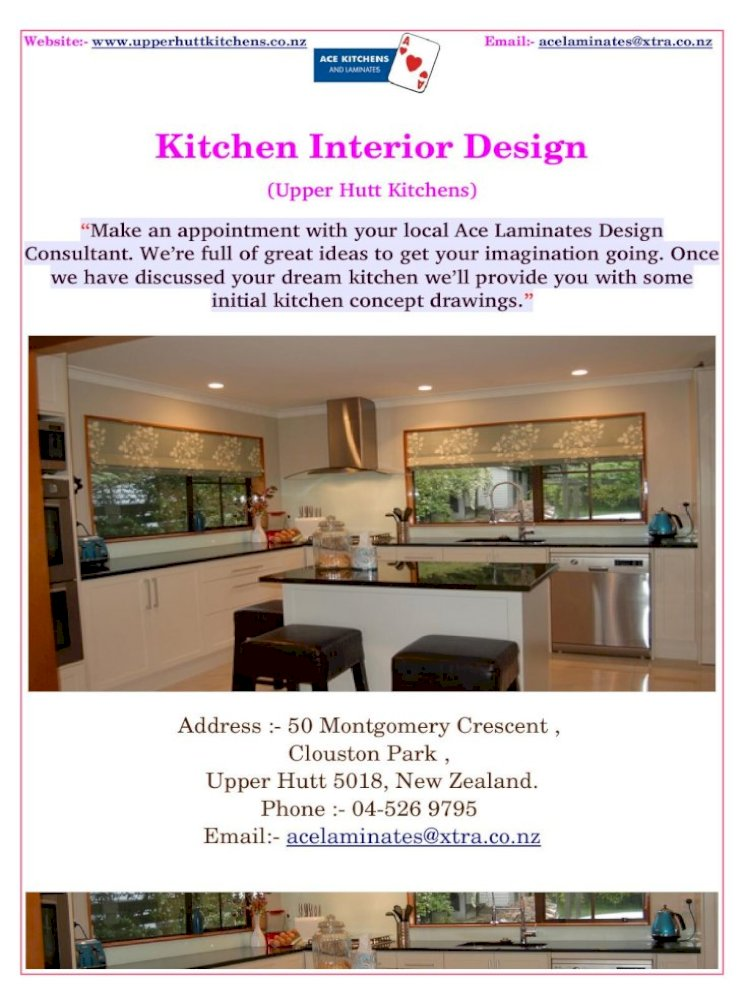 Kitchen Interior Design Importance In Our Home Pdf Document