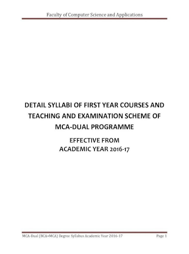 Faculty Of Computer Science And Applications Pdf Document
