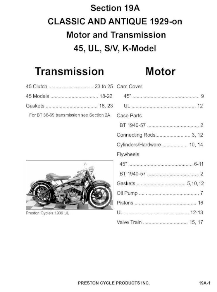 Left SPROCKET SHAFT KIT for 1937-1948 Harley UL /& ULH Motors