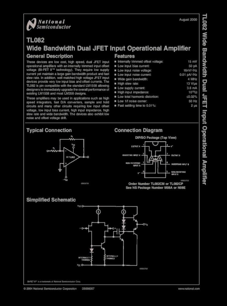 N°1 AMPLIFIERS WIDE BANDWIDTH SINGLE J-FET OPERAT LF356N ST