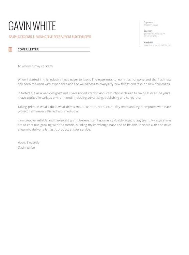 Cv Gavin White Pdf Document