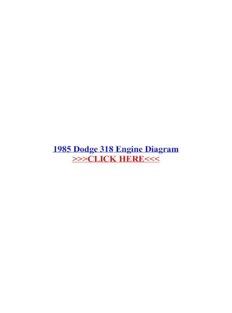 1985 Dodge 318 Engine Diagram 1985 Dodge 318 Engine Diagram 318 4x4 This Dodge Ram Repair Pdf Document