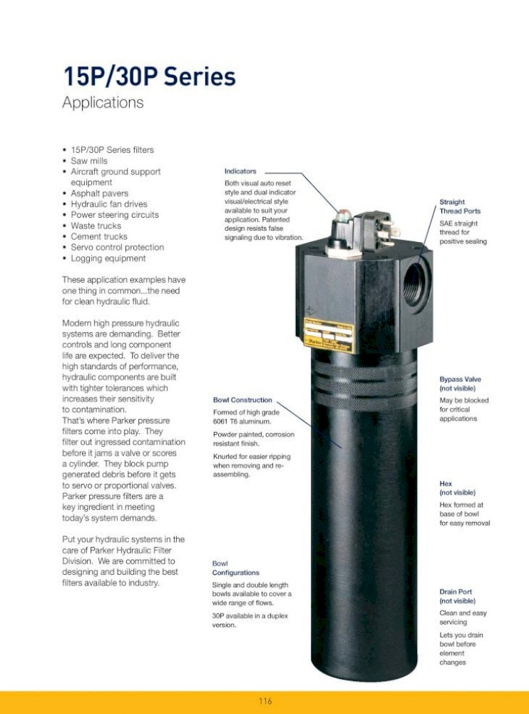 Parker Hannifin 932613Q Filtration Hydraulic Filter