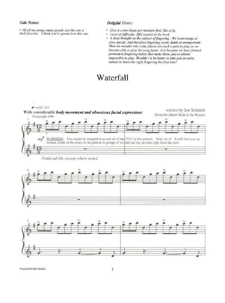 13750090 Waterfall Jon Schmidt Copy Pdf Document